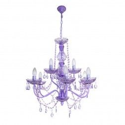 Lámpara techo araña candelabro 9 brazos violeta. #Lamparas de #techo en nuryba.com tu #tienda de #lamparas, #muebles y #decoracion #online de #interiores en #Madrid y para decorar tu #casa
