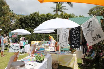The Love Handmade markets in the Wedding Gardens, Scarborough Queensland, Australia.