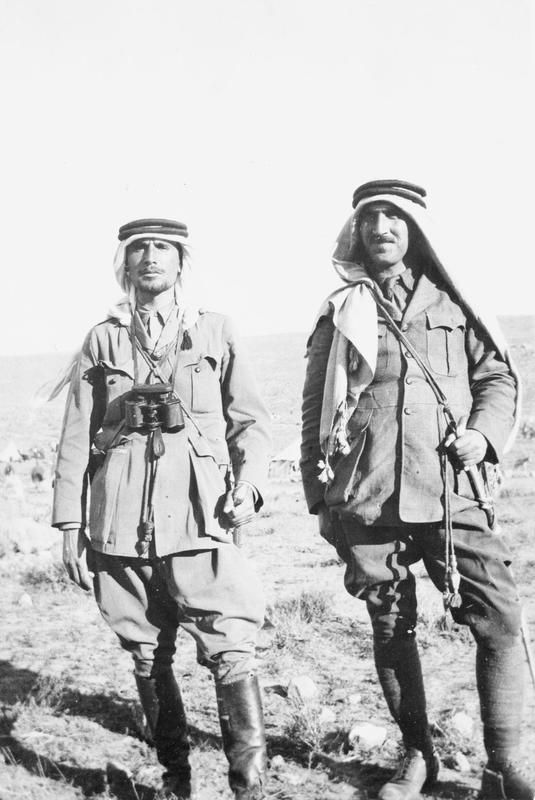 T E LAWRENCE ARAB REVOLT 1916 - 1918 (Q 59558) Abdullah and Ibrahim, Arab officers.