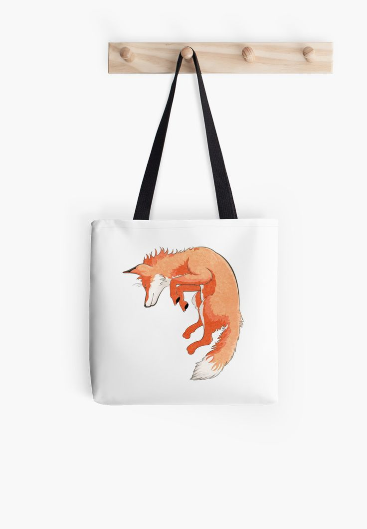 Jumping Fox Tote Bags by AnMGoug on Redbubble. #fox #tote #bag