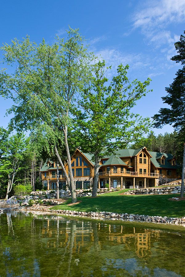Michigan log home lake side. Could I possible have this on Norris Lake in TN?? Pretty please?!?!?!?!?!?!?!?