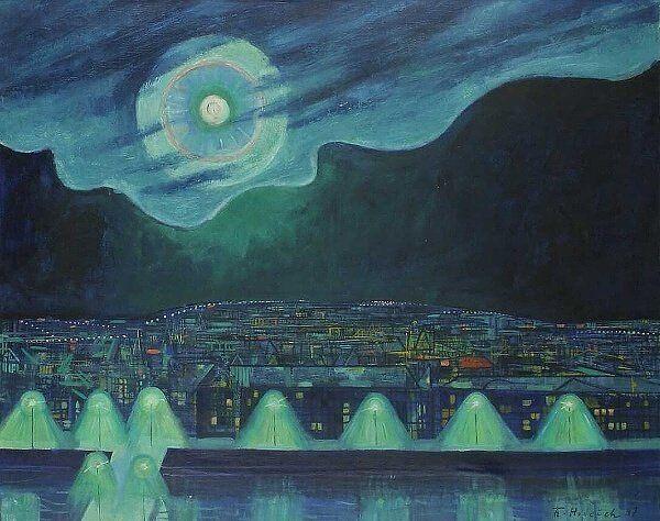 Periphery - František Gross , 1947, Czech, 1909-1985 oil on canvas,