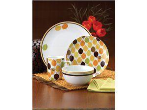 Little Hoot Dinnerware Set (16-pc.) by Rachael Ray, owls <3 im in love!
