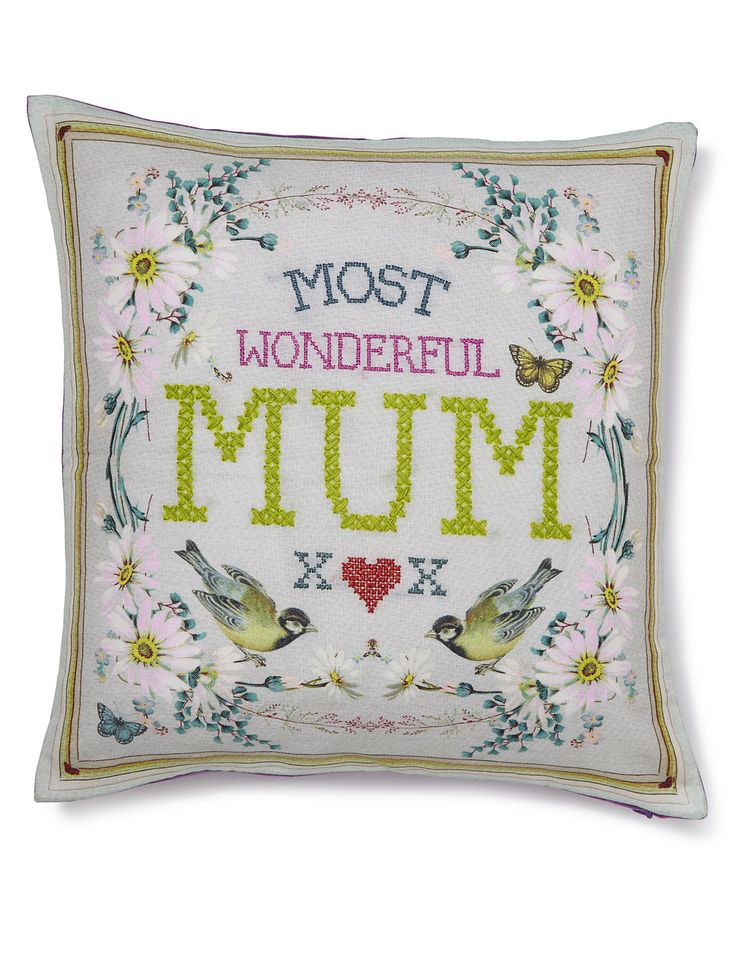 Most Wonderful Mum Slogan Cushion