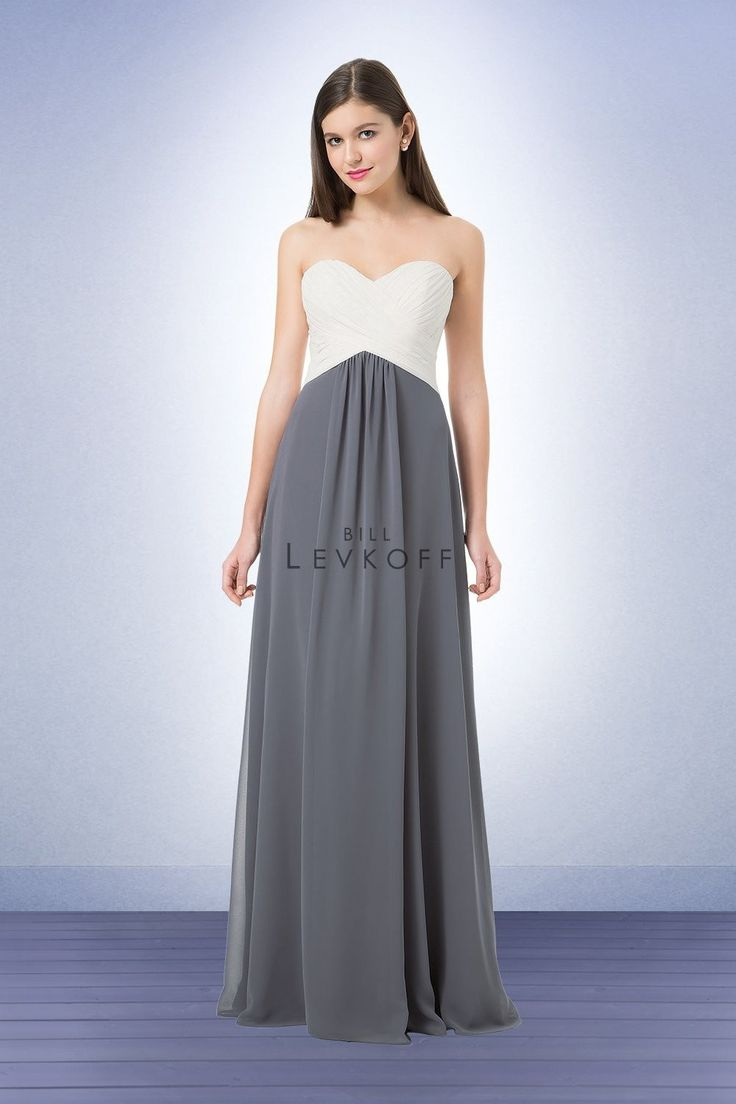 212 best bill levkoff bridesmaid dresses images on pinterest bill levkoff 1223 is a chiffon strapless bridesmaid gown with a sweetheart neckline criss cross pleats adorn the bodice center front gathers accent the ombrellifo Image collections