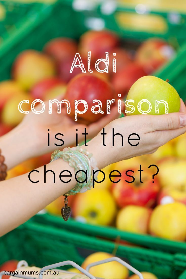 ALDI COMPARISON, is it the cheapest supermarket? See just how much I saved. http://www.bargainmums.com.au