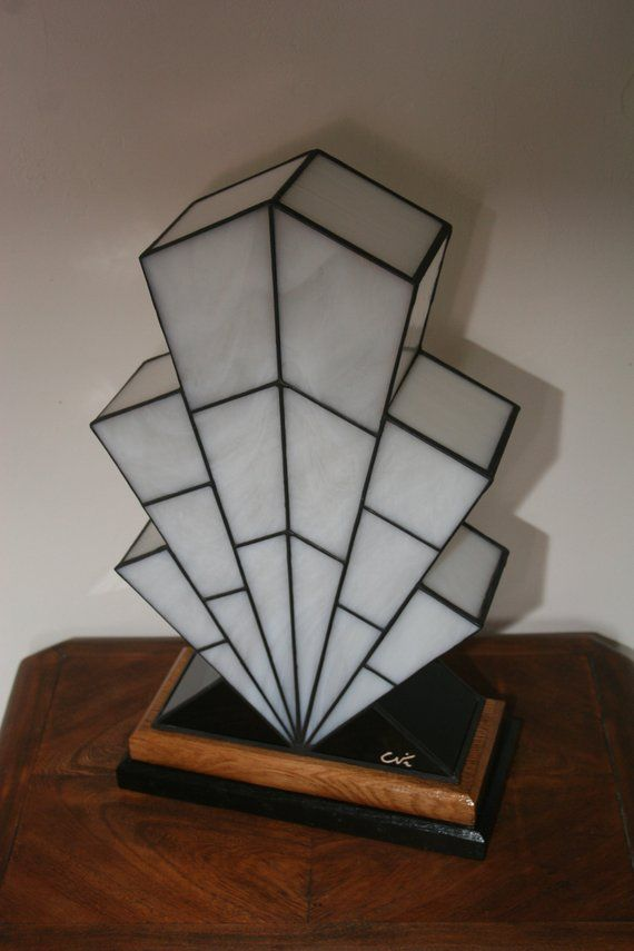 Very Large Lamp Tiffany Lamp Art Deco Stained Glass Tiffany Table
