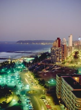 Durban by night - beachfront