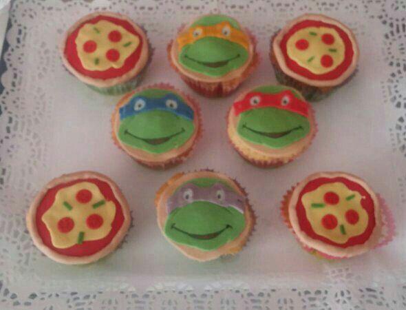 Cupcakes tematizadas en las Tortugas Ninja!!