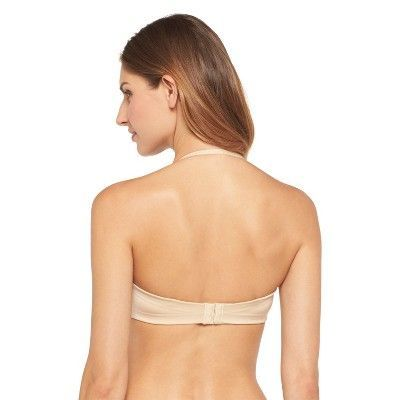 Maidenform Self Expressions Women's's Comfort Convertible Strapless Plunge Bra - Latte 34C