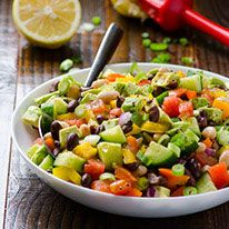 Mexican Bean Salad Recipe is healthy vegetable salad with beans, cilantro and cumin. Can be made ahead and is perfect for potlucks.