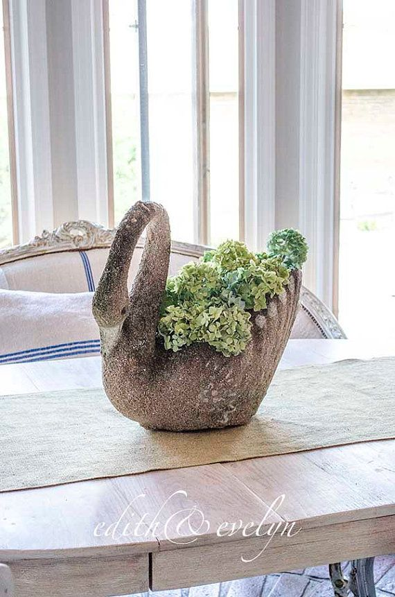 1000 images about urns on pinterest gardens small urns and french - Concrete swan planter ...
