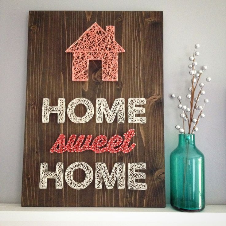 MADE TO ORDER String Art Home Sweet Home Sign (70.00 USD) by TheHonakerHomeMaker