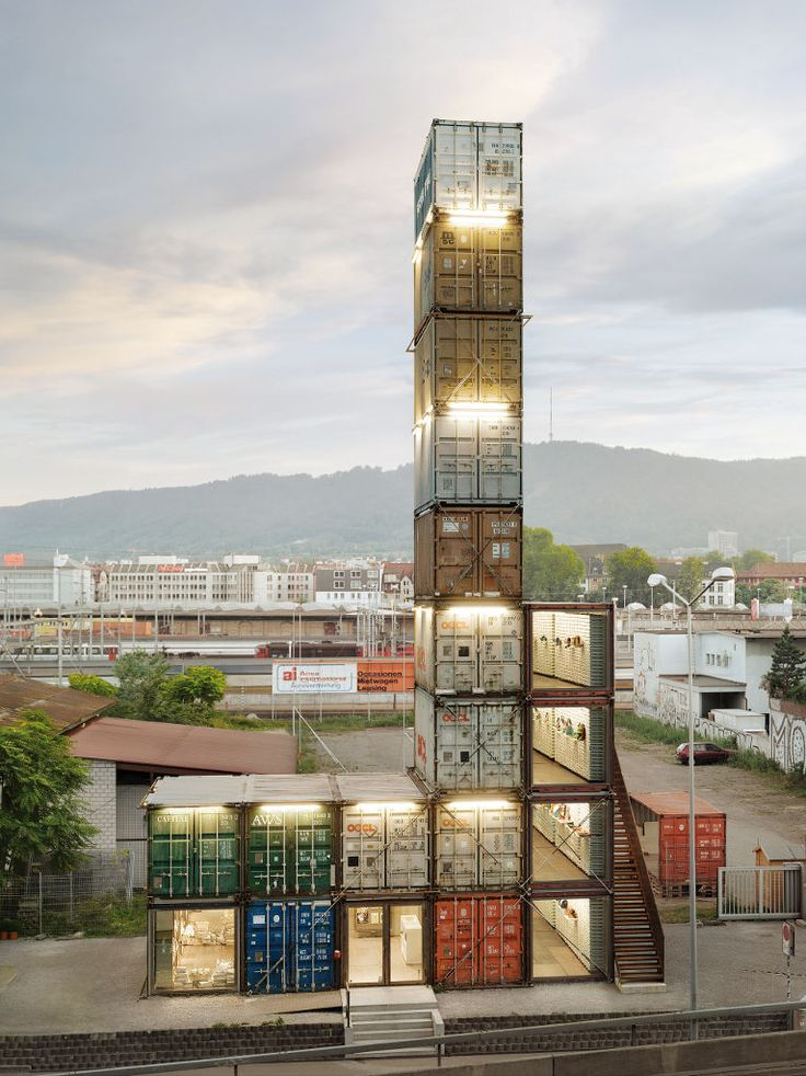Stack em to make a pop up store - Zurich.