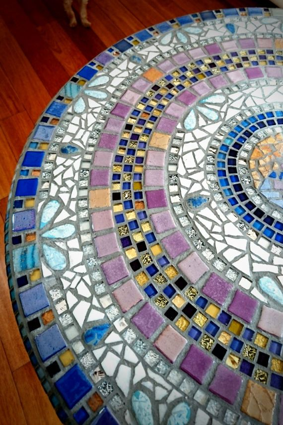 mosaic table bar foot wrought iron and 66 cm round mosaic marble top rh pinterest com