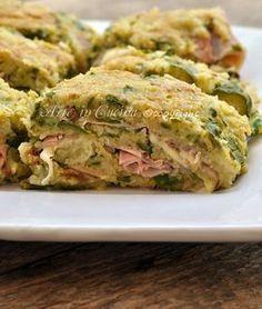 Polpettone di zucchine e formaggio filante vickyart arte in cucina