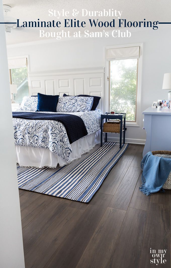 How To Install Wood Laminate Flooring From Select Surfaces Bought At Sam S Club The Wood Lami Grey Wood Floors Bedroom Floor Makeover Laminate Flooring Colors