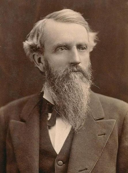 George Hearst (1820–1891) wealthy American businessman & U.S. Senator, & the father of newspaperman William Randolph Hearst. In the Western Utah territory Hearst & his partners managed to mine 38 tons of high-grade silver ore, packed it across the Sierra on muleback, had it smelted in San Francisco, & made $91,000 profit (or roughly $3,550,000 in 2013 dollars). As a partner of Hearst, Haggin, Tevis and Co., Hearst had interests in the Comstock Lode & the Ophir mine in Nevada