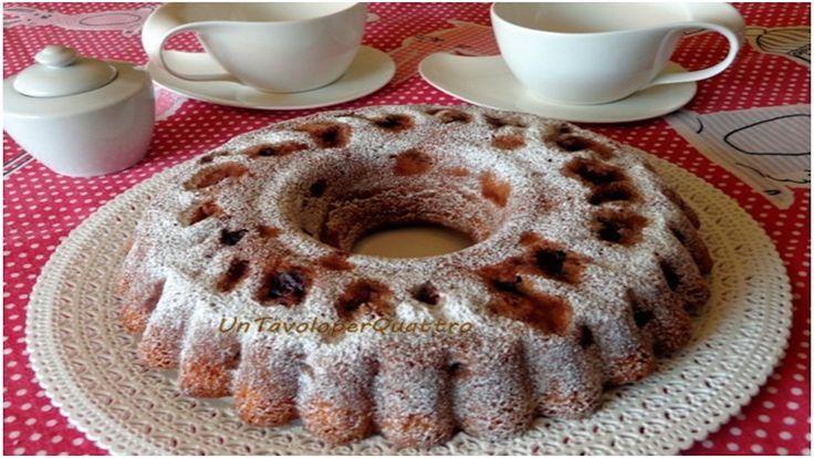 Cake with cherries and mascarpone cheese - I Love Italian Food