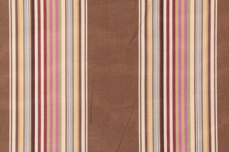 2 Yards Robert Allen Beacon Hill Parker Stripe Upholstery Fabric in Umber Pink