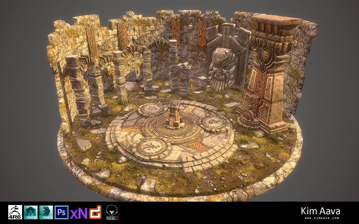 Nordic Environment - final render 2 by Mad-Owl.deviantart.com on @DeviantArt