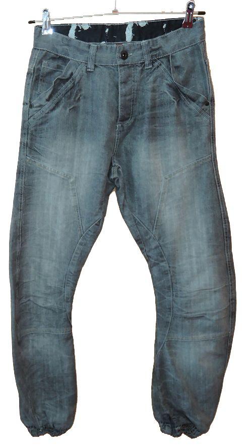 BRUMLA.CZ – Značkový dětský a dospělý second hand a outlet, použité oděvy pro děti a dospělé - Pánské šedé riflové kalhoty vel. 30/32