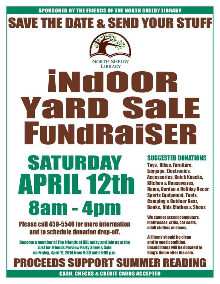 19 best Community Yard Sale images on Pinterest Community garage - fundraising flyer
