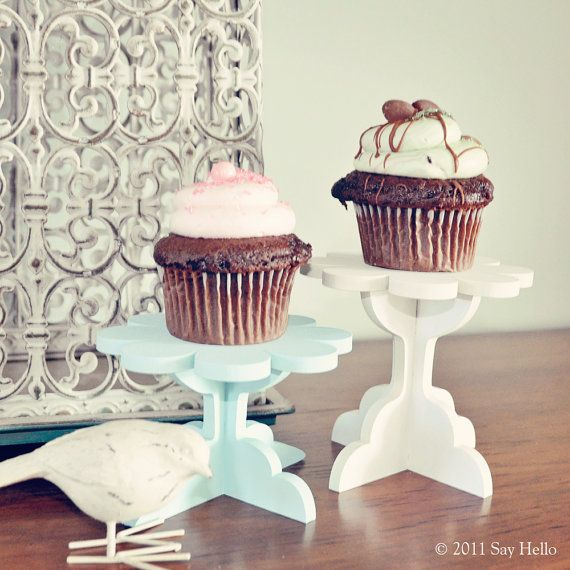 DIY Cupcake Stand Kit. Set of 2. Paint your own color(s) on Etsy, $12.50