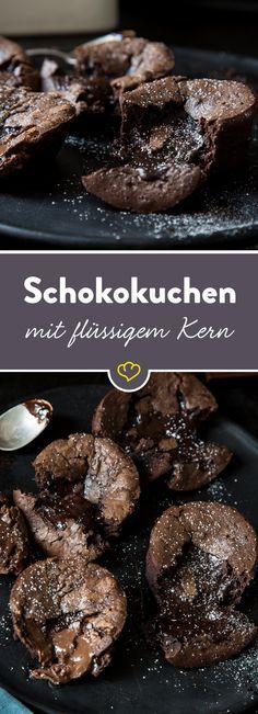 Die Königsklasse der Desserts: Schokokuchen mit flüssigem Kern. Wie der Kern wirklich flüssig bleibt - der große Test und das Rezept mit Gelinggarantie.