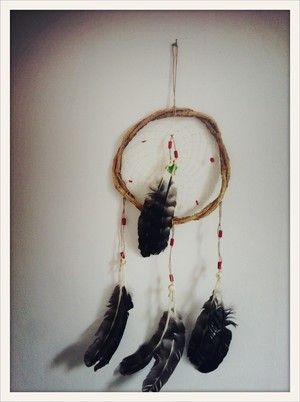 Red Pearl Hand made South American dream catcher. Keeps the bad dreams at the door.