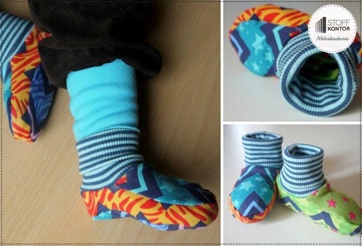 Kostenlose Nähanleitung für Kinderwendeschuhe Tippy Toes
