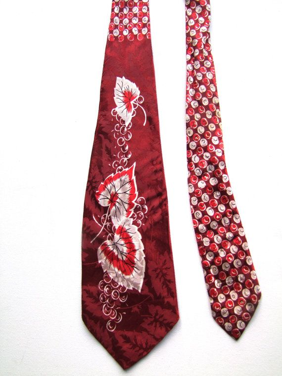 1940's Rockabilly Men's Necktie // 40's Film Noir Gangster Necktie/ by Haband