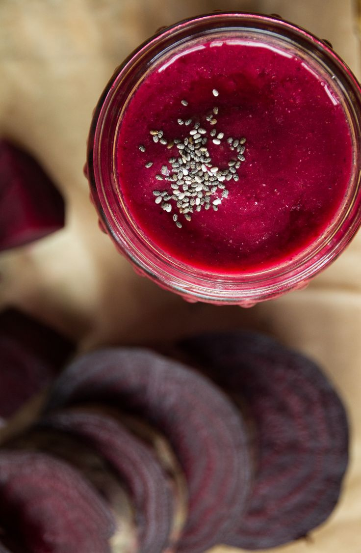 Beets Smoothie Monotony Beet smoothies are one of my favorite ways to drink my veggies. I love the gorgeous magenta color that they bring to everything they come in contact with (including my hands). Beets can be an acquiredtaste if you did not grow up eating them.   #beets #bright magenta #healthy #smoothies #superfood