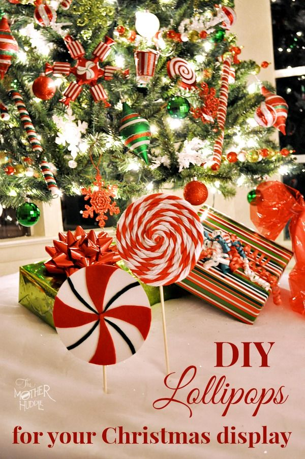 Make some cute Peppermint Lollipops to go with your Christmas display More Xmas…
