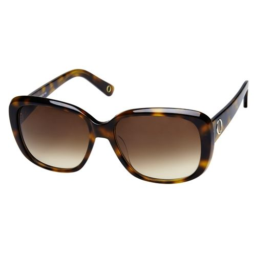 Oroton Minerva Sunglasses: Brown Tortoiseshell With Large Lenses