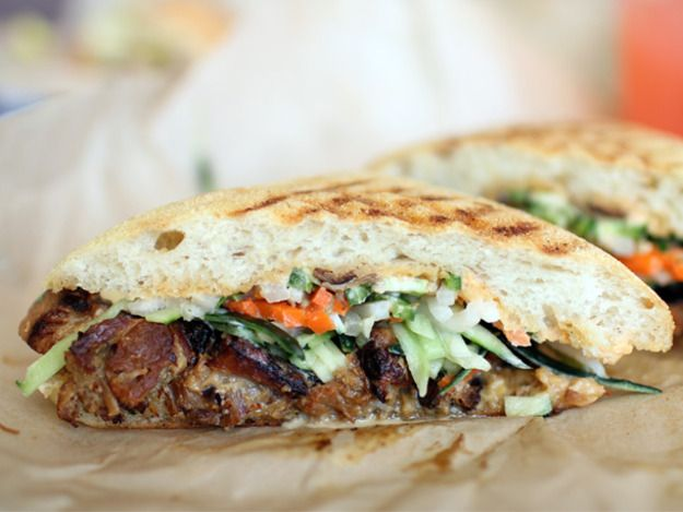 A Sandwich a Day: Kurobuta Pork Belly Banh Mi at Mendocino Farms in Los Angeles