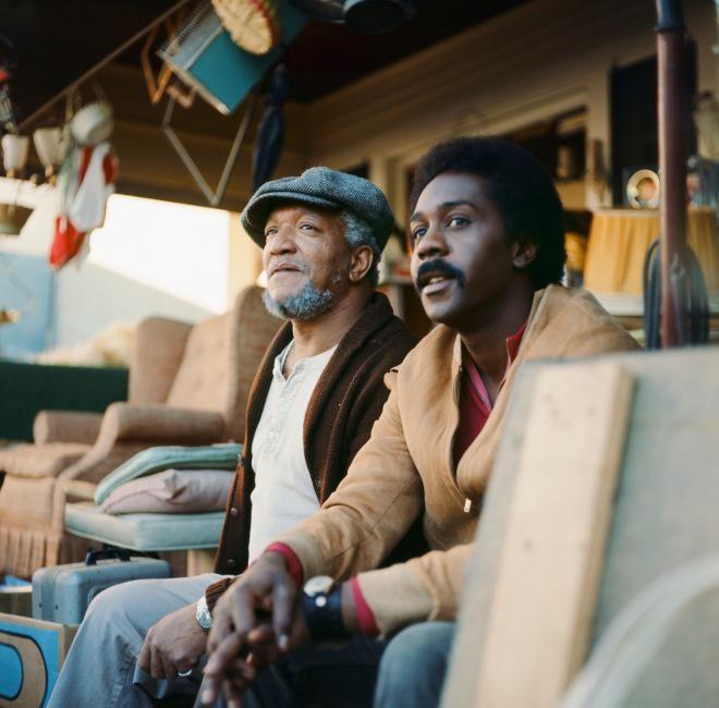 @HistoryInPics 16Sep2015 -  Sanford and Son's Redd Foxx and Demond Wilson, 1970s.