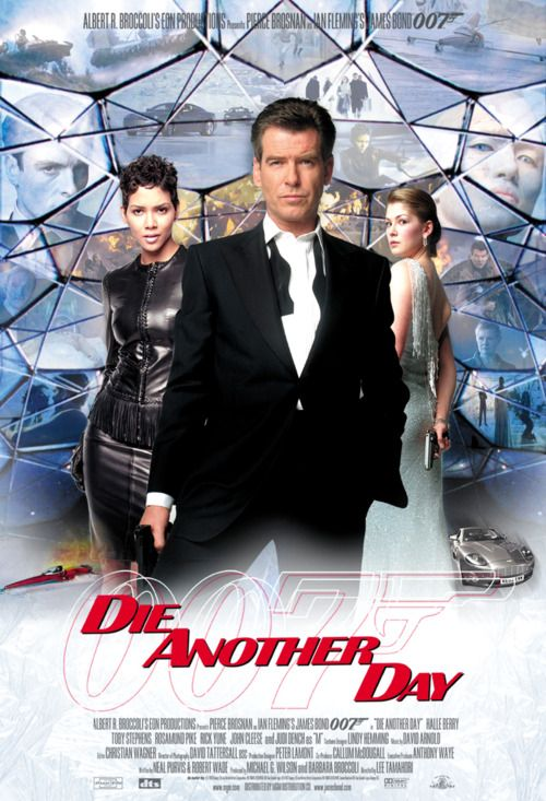Die Another Day (2002) Pierce Brosnan and Hallie Berry Poster https://www.youtube.com/user/PopcornCinemaShow
