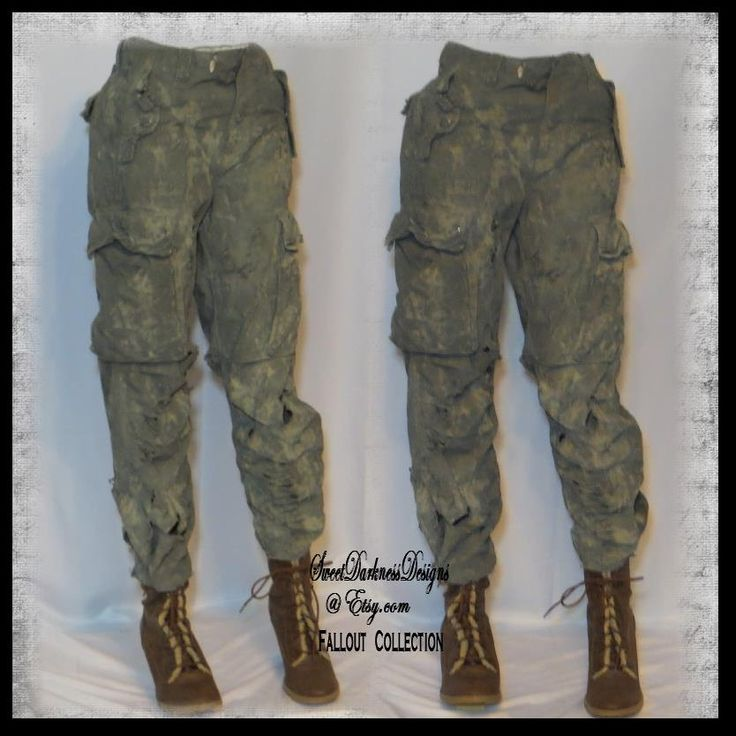 Post APOCALYPTIC PANTS WOMENS Apocalyptic Pants Size SMaLL Mad Max Fallout Army Drab Green Zombie Wasteland Fashion by WastelandWearable by WastelandWearable on Etsy