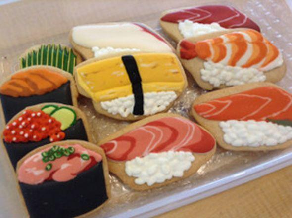 sushi set cookies