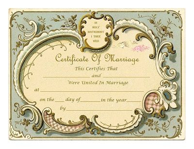 Best Wedding Certificates Images On   Marriage