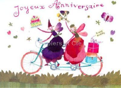 Louise Deletang Joyeux anniversaire A bicyclette