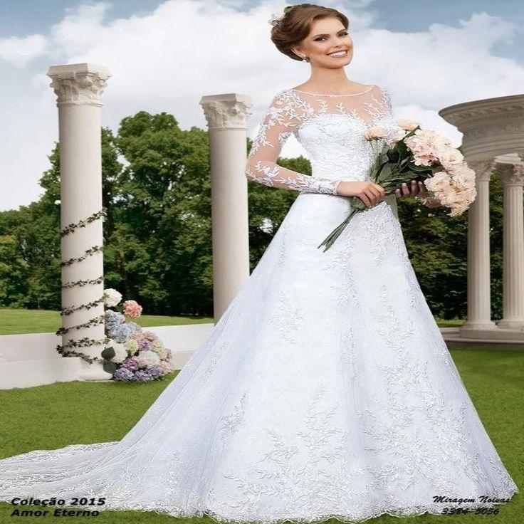 Купить товарVestido де Noiva 2015 белое кружево мода линия свадебное платье с длинным рукавом прозрачный спинки свадебное платье LT120 в категории Свадебные платьяна AliExpress.    1.   Покупателей из      Бразилия          Пожалуйста, оставьте ваш      СПС          Номер нам, что полезно для ваши