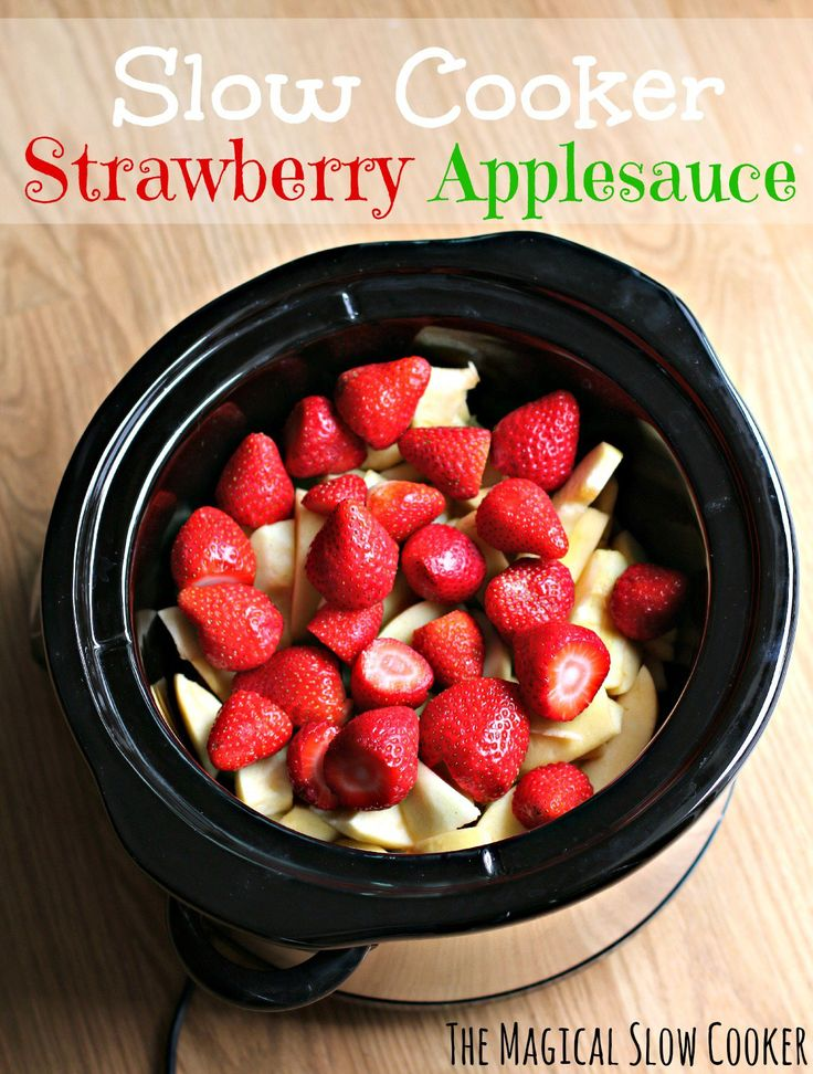 Slow Cooker Strawberry Applesauce