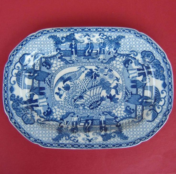 Adams Pearlware Platter Blue & White Chinoiserie c1820 in Pottery, Porcelain & Glass, Date-Lined Ceramics, Pre-c.1840 | eBay!