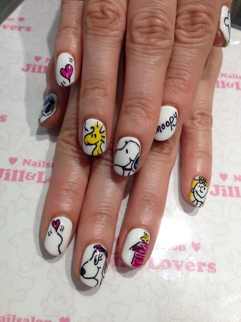 Best 25 snoopy nails ideas on pinterest spring nails christmas snoopy nails pretty much my current nails prinsesfo Gallery