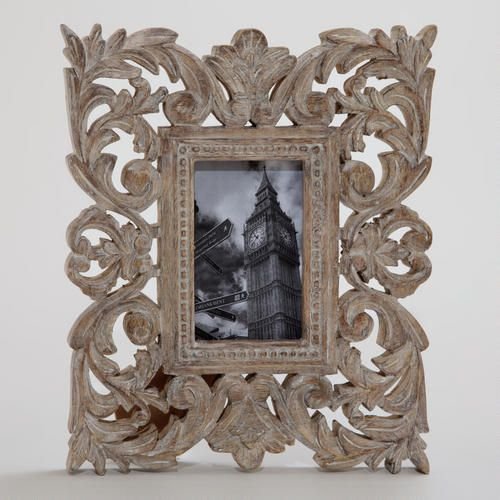 One of my favorite discoveries at WorldMarket.com: Gray Wash Isla Carved Frame