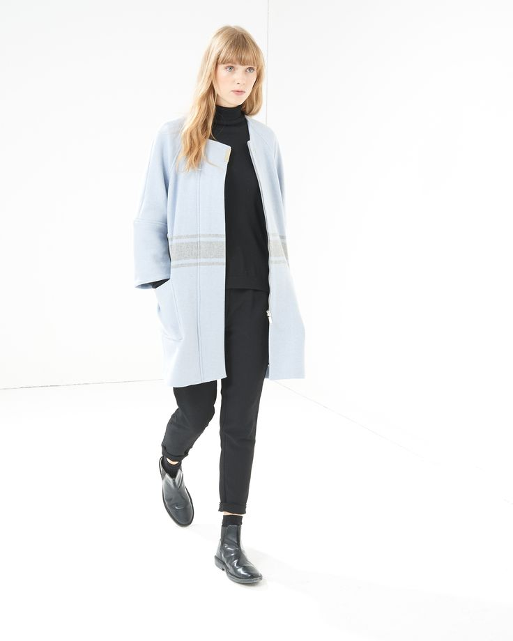 French Connection Skyline Wool Coat - Atterley Road