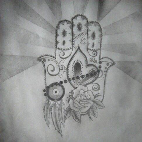 Hamsa sketch drawn by me
