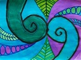 2-D New Zealand Koru designs to compliment the 3-d clay project